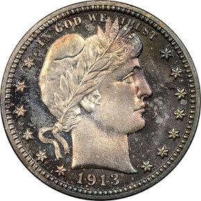 1913 25C PF obverse