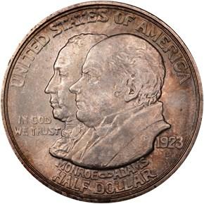 1923 S MONROE 50C MS obverse