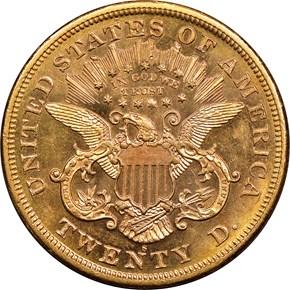 1870 S $20 MS reverse