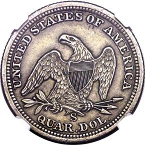1856 S 25C MS reverse