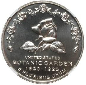1997 P BOTANIC GARDEN S$1 MS obverse