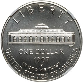 1997 P BOTANIC GARDEN S$1 MS reverse