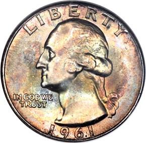 1961 25C MS obverse