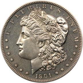1901 $1 PF obverse