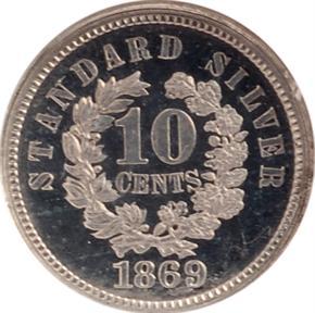 1869 J-701 10C PF reverse