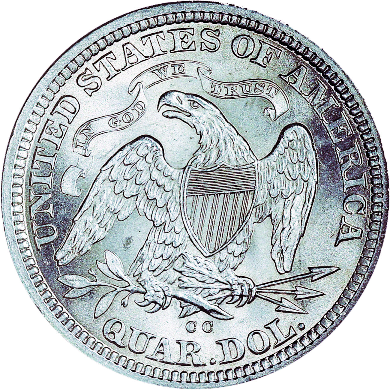 1876 cc 25c ms seated liberty quarters ngc
