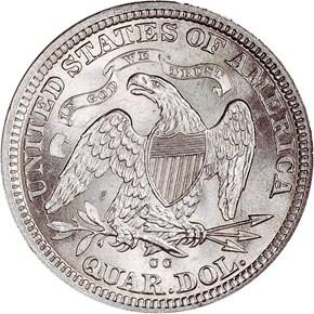1876 CC 25C MS reverse