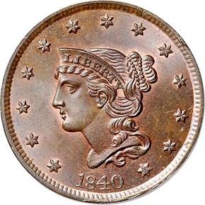1840 1C MS obverse