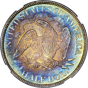 1866 MOTTO 50C MS reverse