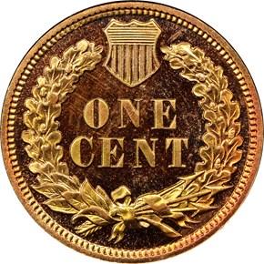 1909 INDIAN 1C PF reverse