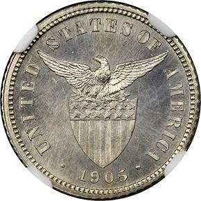1905 USA-PHIL 10C PF reverse
