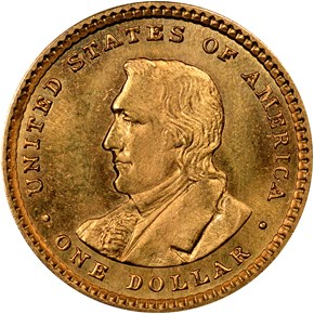 1905 LEWIS & CLARK G$1 MS reverse