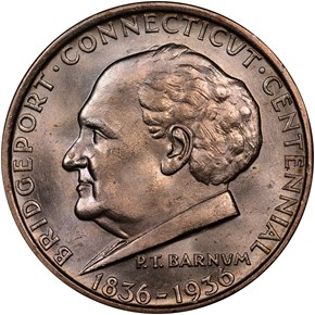 1936 BRIDGEPORT 50C MS obverse