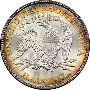 1871 50C MS reverse