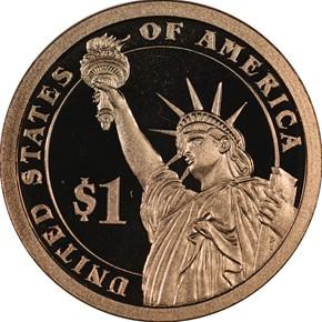 2014 S CALVIN COOLIDGE $1 PF reverse