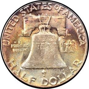 1957 50C MS reverse