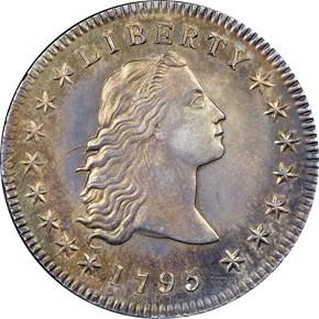 1795 FLOWING HAIR S$1 MS obverse