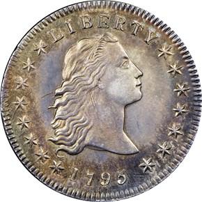 1795 FLOWING HAIR $1 MS obverse