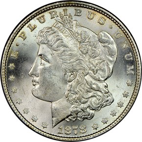 1878 7TF REV OF 79 $1 MS obverse