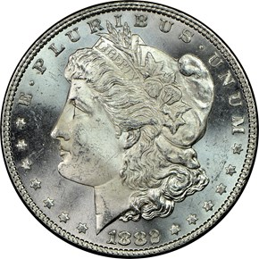 1882 $1 MS obverse