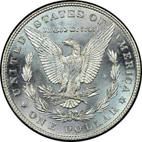 1882 S$1 MS reverse