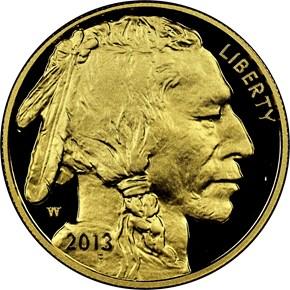 2013 W BUFFALO .9999 FINE G$50 PF obverse
