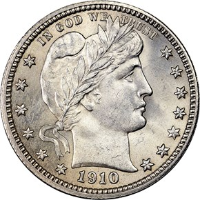 1910 25C MS obverse