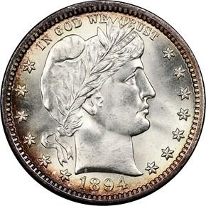 1894 25C MS obverse