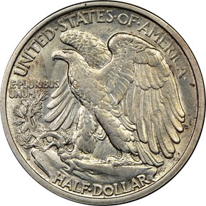1917 S REVERSE 50C MS reverse