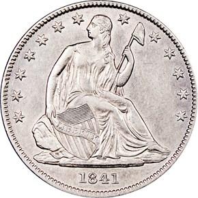 1841 O 50C MS obverse
