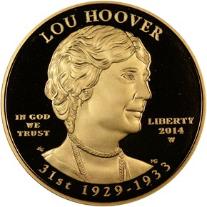 2014 W LOU HOOVER G$10 PF obverse