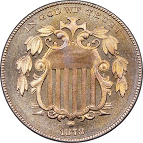 1878 5C PF obverse