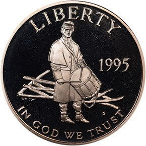 1995 S CIVIL WAR 50C PF obverse