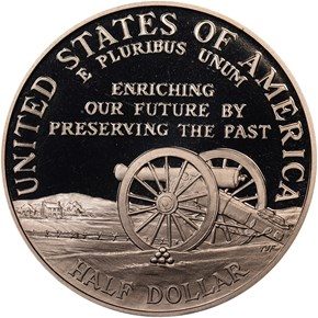 1995 S CIVIL WAR 50C PF reverse