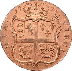 1773 WITH PERIOD VIRGINIA 1/2P MS reverse