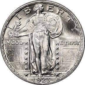 1923 25C MS obverse