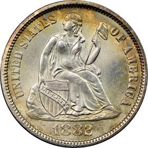 1882 10C MS obverse