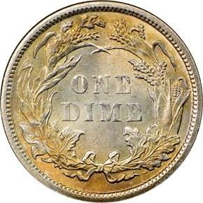1882 10C MS reverse