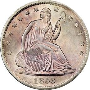 1863 S 50C MS obverse