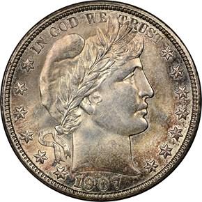 1907 D 50C MS obverse