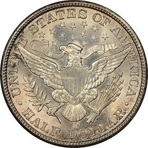 1907 D 50C MS reverse
