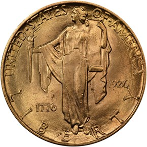 1926 AMERICAN SESQUICENTENNIAL $2.5 MS obverse