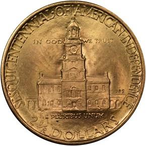 1926 AMERICAN SESQUICENTENNIAL $2.5 MS reverse