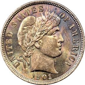 1901 10C MS obverse