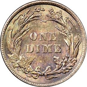 1901 10C MS reverse