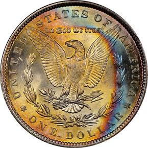 1889 $1 MS reverse