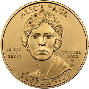 2012 W ALICE PAUL G$10 MS obverse
