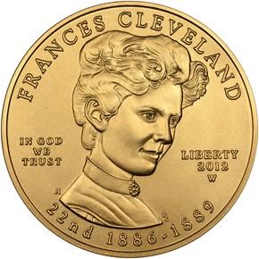 2012 W FRANCES CLEVELAND TERM 1 G$10 MS obverse