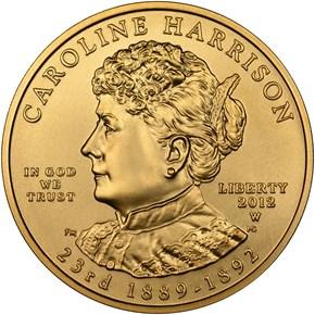 2012 W CAROLINE HARRISON G$10 MS obverse