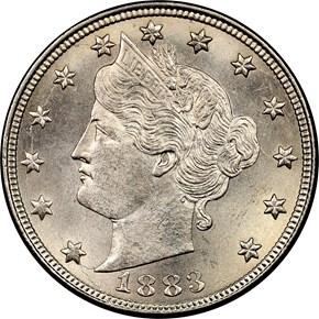 1883 NO CENTS 5C MS obverse